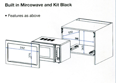Microwave oven standard sizes bestmicrowave for Built in microwave cabinet size