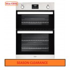 Gas Oven Belling 90cm Built In Gas Double Oven in Stainless Steel With Integrated Electric Grill.