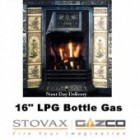 "Gas Fire Bottled Gas Fire 16"" Caribbean Glow Replacement Gazco 16"" VFC Tapered Raised Inset Gas Fire"
