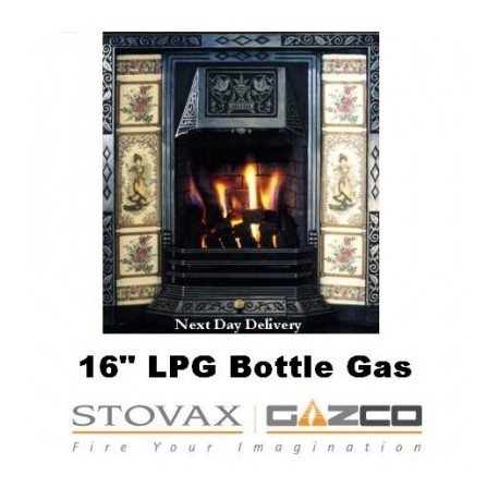 """Gas Fire Bottled Gas Fire 16"""" Caribbean Glow Replacement Gazco 16"""" VFC Tapered Raised Inset Gas Fire"""