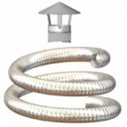 Flexible Flue Liner Kit, Various Lengths Available, 100mm Diameter For Oil & Gas.