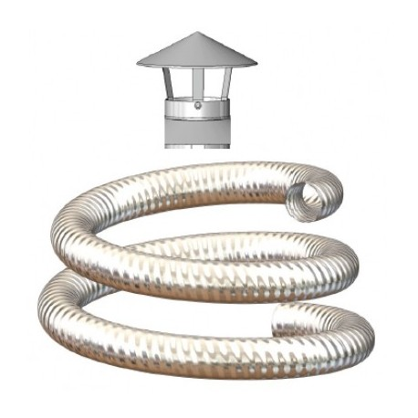 Excellent Mi Flues Flexible Flue Liner Kit Various Lengths Available 100Mm Diameter For Oil Gas Home Remodeling Inspirations Genioncuboardxyz