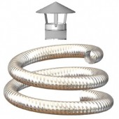 Flexible Flue Liner Kit, Various Lengths Available, 150mm Diameter For Oil & Gas.