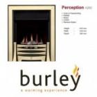 Flueless Gas Fire Burley Perception 4260b,4264BK,4267S, Inset Flueless Gas Fire (Brass) Easy Slide Control.