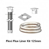 Flexible Flue Liner Mini Kit 125mm, Various Lengths Available, For Solid Fuel.