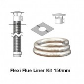 Mi-Flues Flexible Flue Liner Mini Kit 150mm, Various Lengths Available, For Solid Fuel.