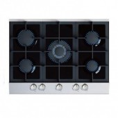 Cata GHDFF70ALGG 5 Burner Black Glass Gas Hob