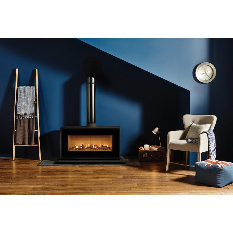 Gas Stove Gazco Studio 2 Freestanding High Efficiency 78 Contemporary Fire