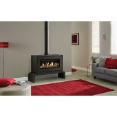 Gas Stove Gazco Studio 2 Freestanding Conventional Flue, High Efficiency (77%) Freestanding Contemporary Gas Fire Stove.GSTCF
