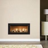 Gazco Studio 1 Edge+ Conventional Flue, High Efficiency (72%) Glass Fronted Conventional Flue Gas Fire.