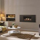 Gas Fire Gazco Studio 1 Steel Conventional Flue High Efficiency (72%) 4.97kw Conventional Flue Chimney Gas Fire. GS1cf