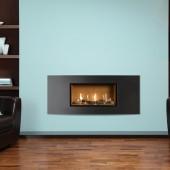Gas Fire Gazco Studio 1 Verve Conventional Flue,(72%) 4.97 kw 1.9 meter wide Verve Frame Chimney Gas Fire. GS1cf