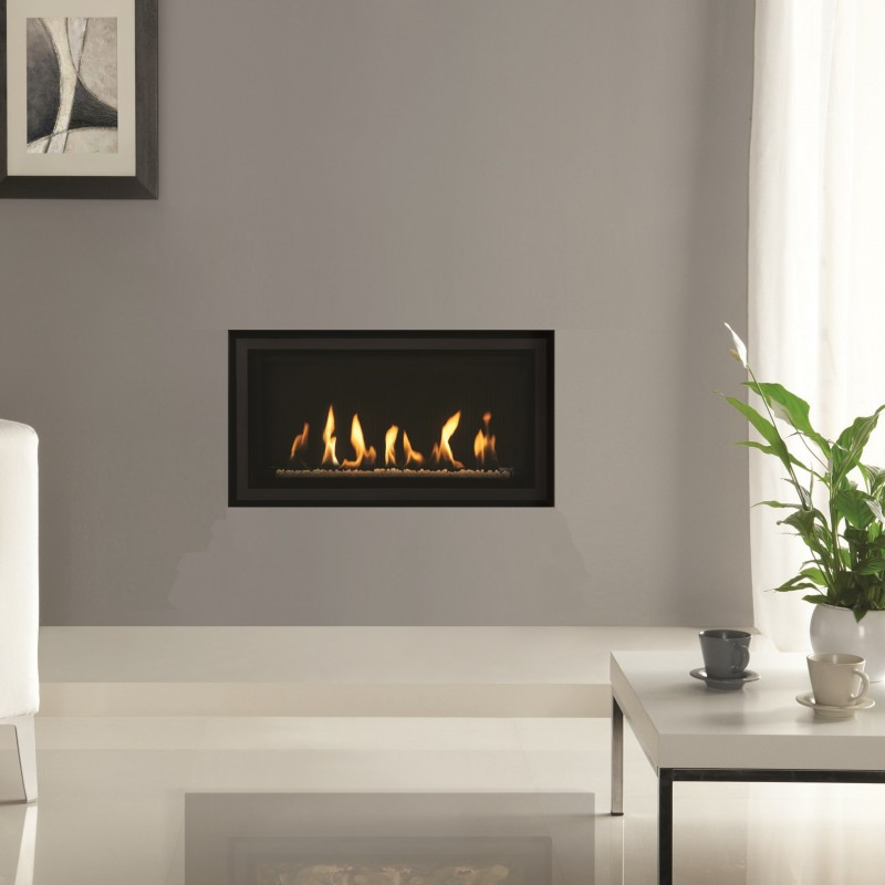 Gas Fire Gazco Studio 1 Slimline Edge High Efficiency 82