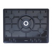 STOVES 5 Burner Gas Hob in Stainless Steel Sterling TGCG700 5 Burner Gas Hob with cast iron pan supports