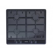 Stoves 4 Burner Gas Hob , Cast Pan Supports, Stainless Steel, Black,Nat Gas ,