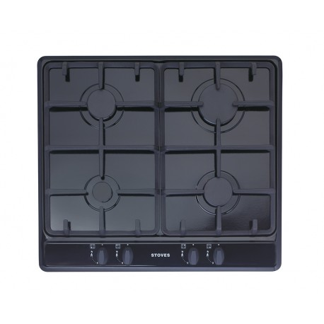 Gas Hob STOVES 4 burner Gas Hob with Cast Iron Pan Supports TGCSGH600C