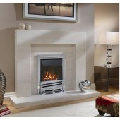 Maynooth Gas Fire, Easy slider Control High Efficiency Slimline Glass Fronted Gas Fire. Ekofire 140104015
