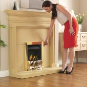 Ashleigh Gas Fire High Efficiency 67% Open Fronted Convector Gas Fire. TGC1302