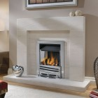 Gas Fire Ekofire Fan Assisted Gas Fire, Typhoon High Efficiency Open Fronted Power Flue Inset Gas Fire.Ekofire TGC13021 (PF)