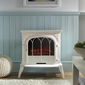 Stockwood Metal Bodied Electric Effect LED Flame Effect Stove. Ekofire TGC125