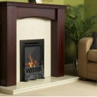Gas Fire Flavel Kenilworth HE Gas Fire Glass Fronted Traditional Brass HE 78% High Efficiency Slimline.