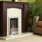 Gas Fire Flavel Kenilworth HE Glass Fronted Contemporary Silver HE High Efficiency 78% (Special Order: Up to 6 weeks)