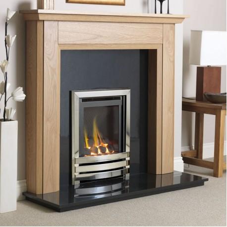 Gas Fire Flavel Linear Coal Effect He Hi Efficiency 78 Slimline Glass
