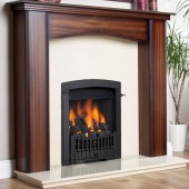 Gas Fire Flavel Rhapsody Slide Control Open Fronted Living Flame Effect - Full Depth Inset Convector - LPG Bottle Gas Brass