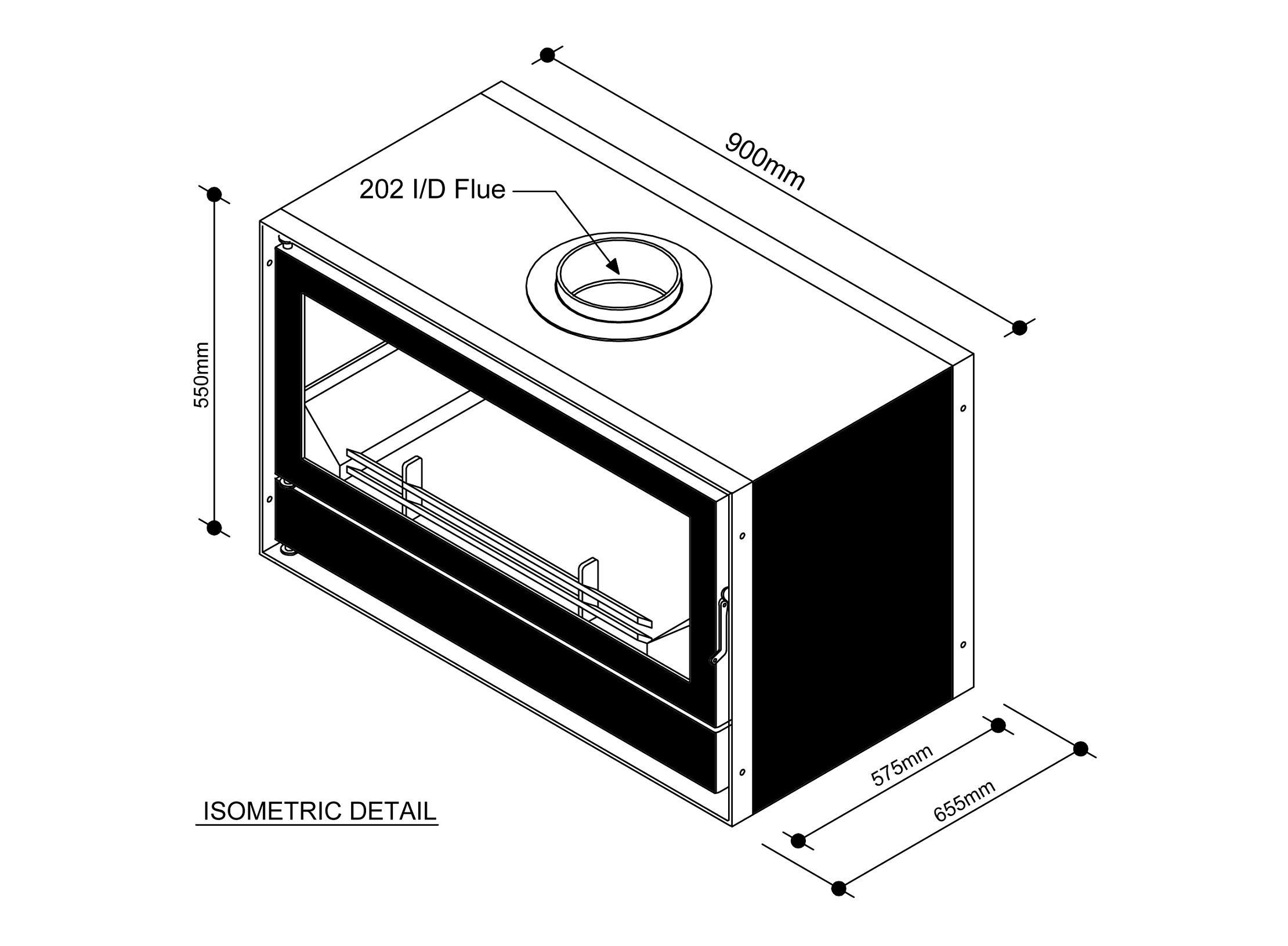 Inset Solid Fuel Stove Boru 900i Irish Made Amp Manufactured
