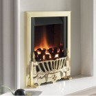 Gas Fire Flavel Warwick Slimline Gas Fire Radiant Open Fronted, Gas Fire. 53.1% Efficiency