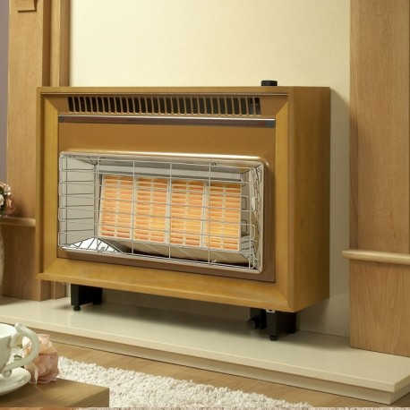 Gas Fire Flavel Misermatic High Efficiency Outset Radiant Fire, Easy Use Top Control.