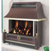 Flavel Renoir Black Outset Fire High Efficiency Glass Fronted Gas Fire (Special Order: up to 6 weeks)