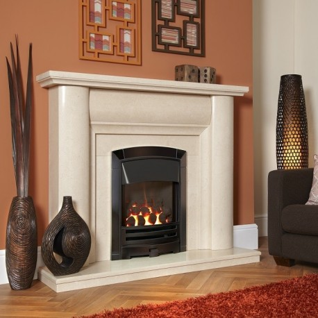Flavel Decadence HE Gas Fire , High Efficiency Glass Fronted Gas Fire. 84.3% Efficiency.