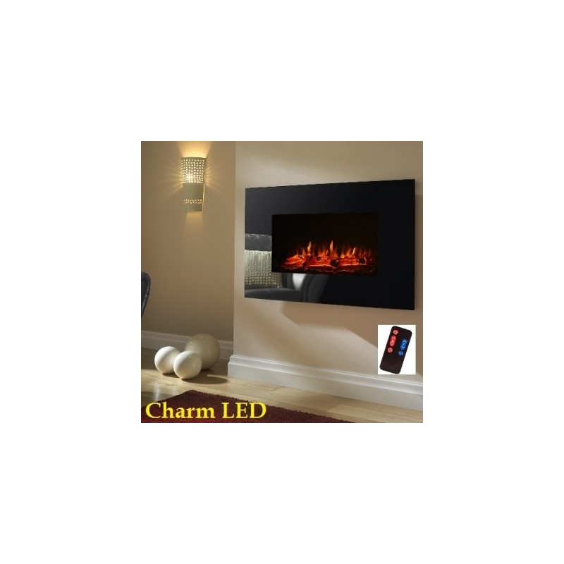 Wall Mounted Electric Fire Electric The Charm Led Remote