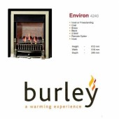 Flueless Gas Fire Burley Environ Inset Flueless Gas Fire Black & Brass Easy Slide Control