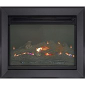 Flueless Built in Wall Gas Fire Burley Acumen 4111 (NO CHIMNEY REQUIRED) Remote Controlled Inset Flueless Fire.