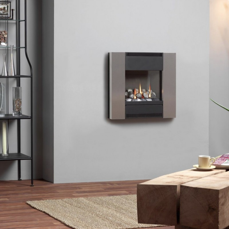 Flueless Gas Fire Burley Flueless Hole In The Wall Gas ...
