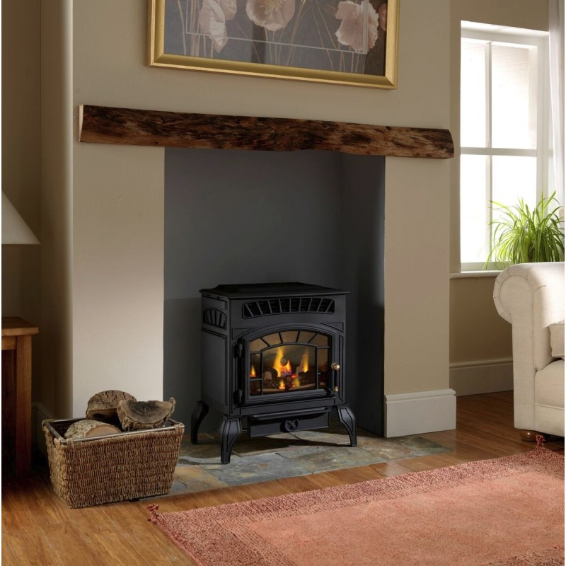 Flueless Gas Stove Burley Ambience 4121 Log Effect Gas ...