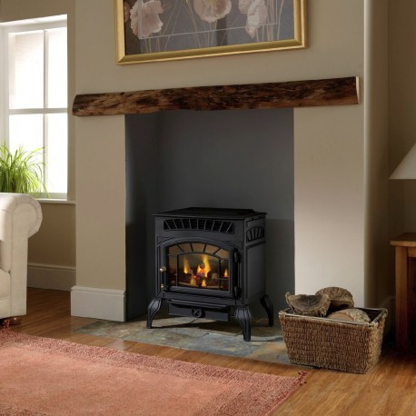 Flueless Gas Stove Burley Esteem 4221 Coal Effect Gas Stove