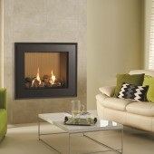 Gas Fire Gazco Riva2 750 Evoke Steel High Efficiency (82%) Conventional Flue Chimney Gas Fire. GRV2750cf