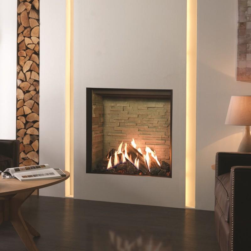Gas Fire Gazco Reflex 75t Edge High Efficiency 75