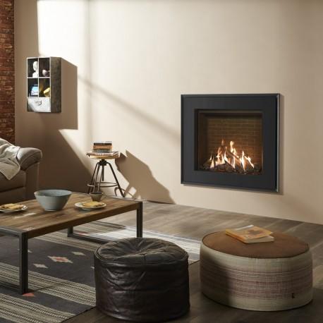 Gazco Reflex 75T Edge, High Efficiency (75%) Conventional Flue Gas Fire.
