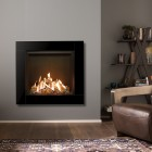 Gas Fire Gazco Reflex 75T Icon XS Glass, High Efficiency (75%) Conventional Flue Gas Fire.