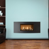 Gazco Studio 1 Slimline Balanced Flue Gas Fire with Steel 2 Frame