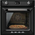 "SMEG Retro ""Victoria"" Traditional Pyrolytic Multifunction oven with Soft Close Door, , pizza stone and shovel SFP6925"
