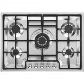 Smeg Gas Hob Classic & Linea TGCPGF75-4 Linea 70cm Wide Ultra Low Profile 5 Burner Gas Hob with Ultra Rapid Burner