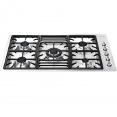 Smeg Low Profile Gas Hob tgc PGF95X-4 Linea Classic 5 Burner Gas Hob , Stainless steel.