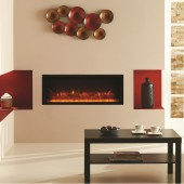 Electric Inset Fire Gazco Radiance 85R Inset Edge Electric Fire with vari-colour flame Electric Inset Wall Fire.