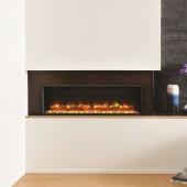 Electric Inset Fire Gazco Radiance 105R Inset Edge Electric Fire with vari-colour flame Electric Inset Wall Fire