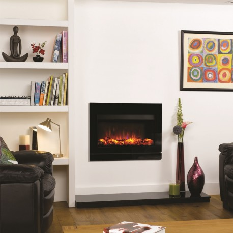 Electric Fire Gazco Riva2 Electric 670 Designio2 Glass Electric Fire.GRV2670e